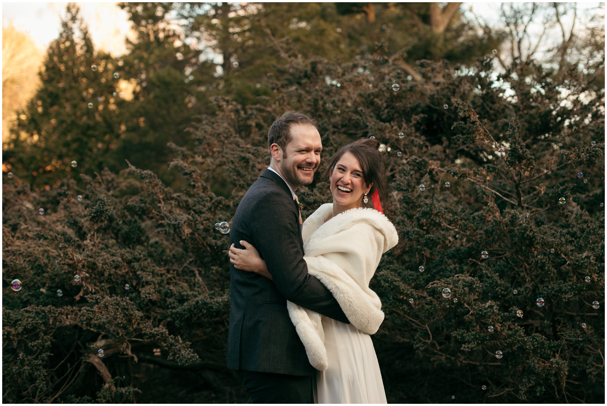 Massachusetts wedding in the woods