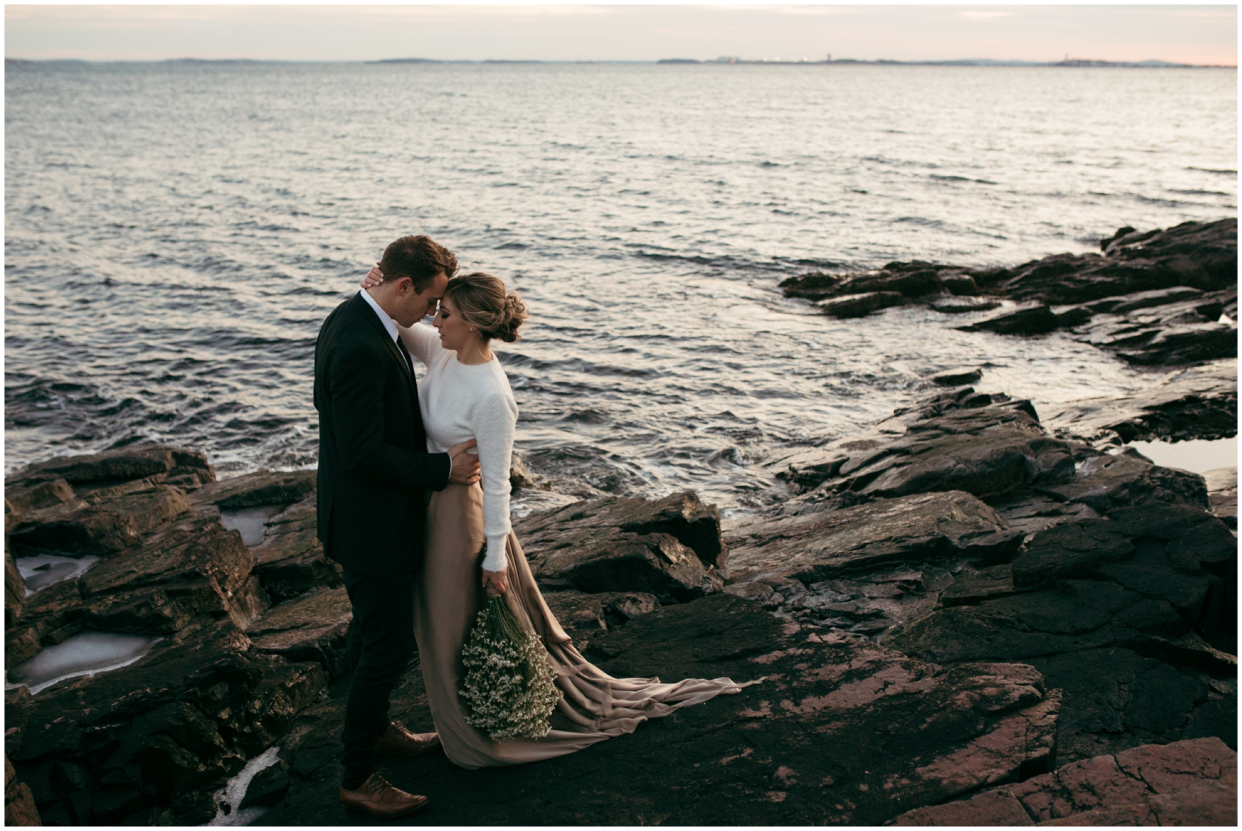 Coastal Massachusetts boho elopement