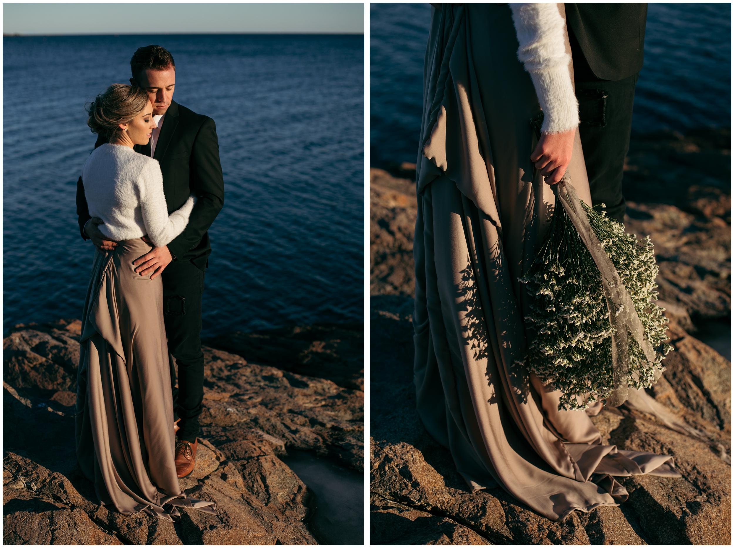 Oceanside elopement in Nahant, MA