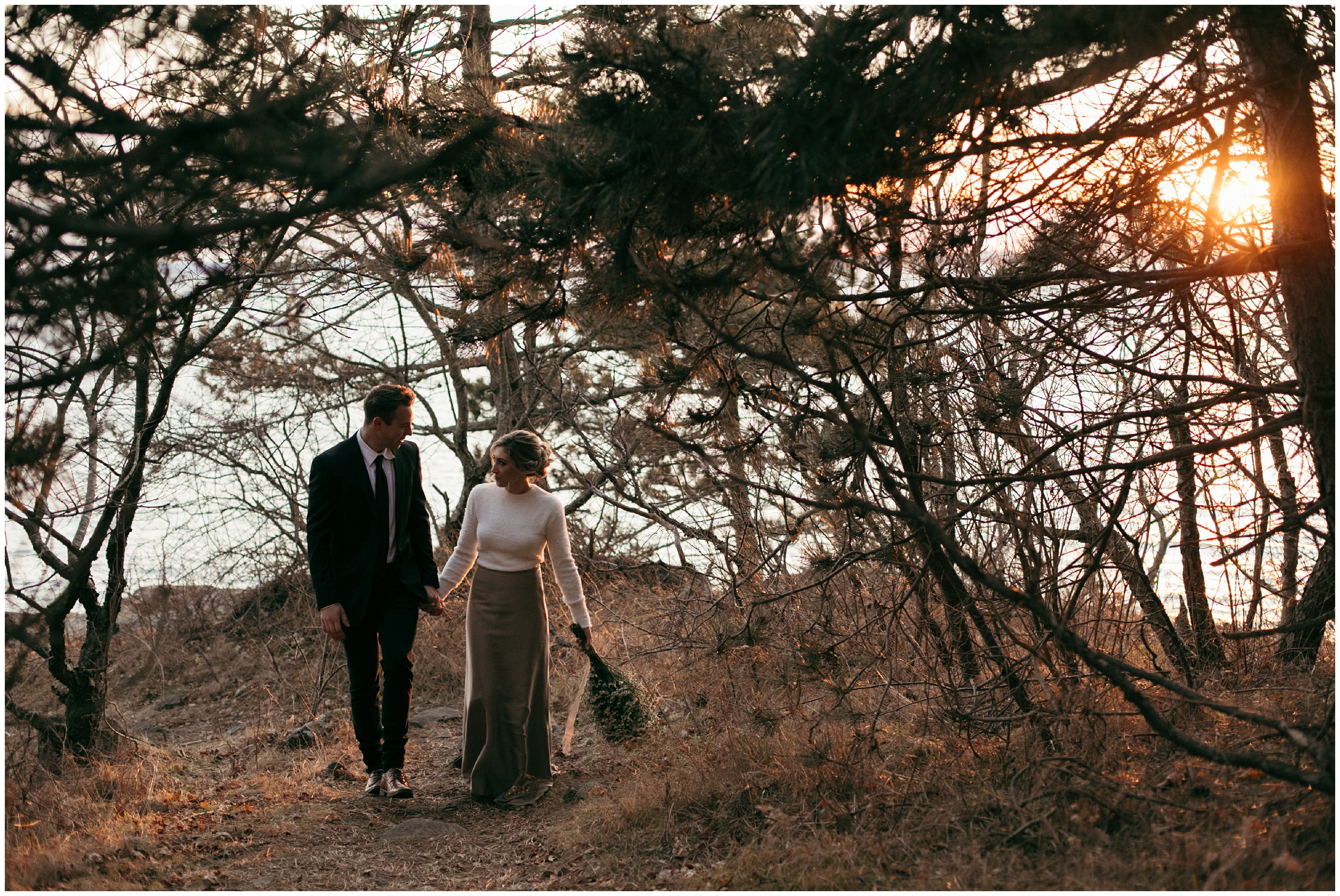 Massachusetts seaside elopement