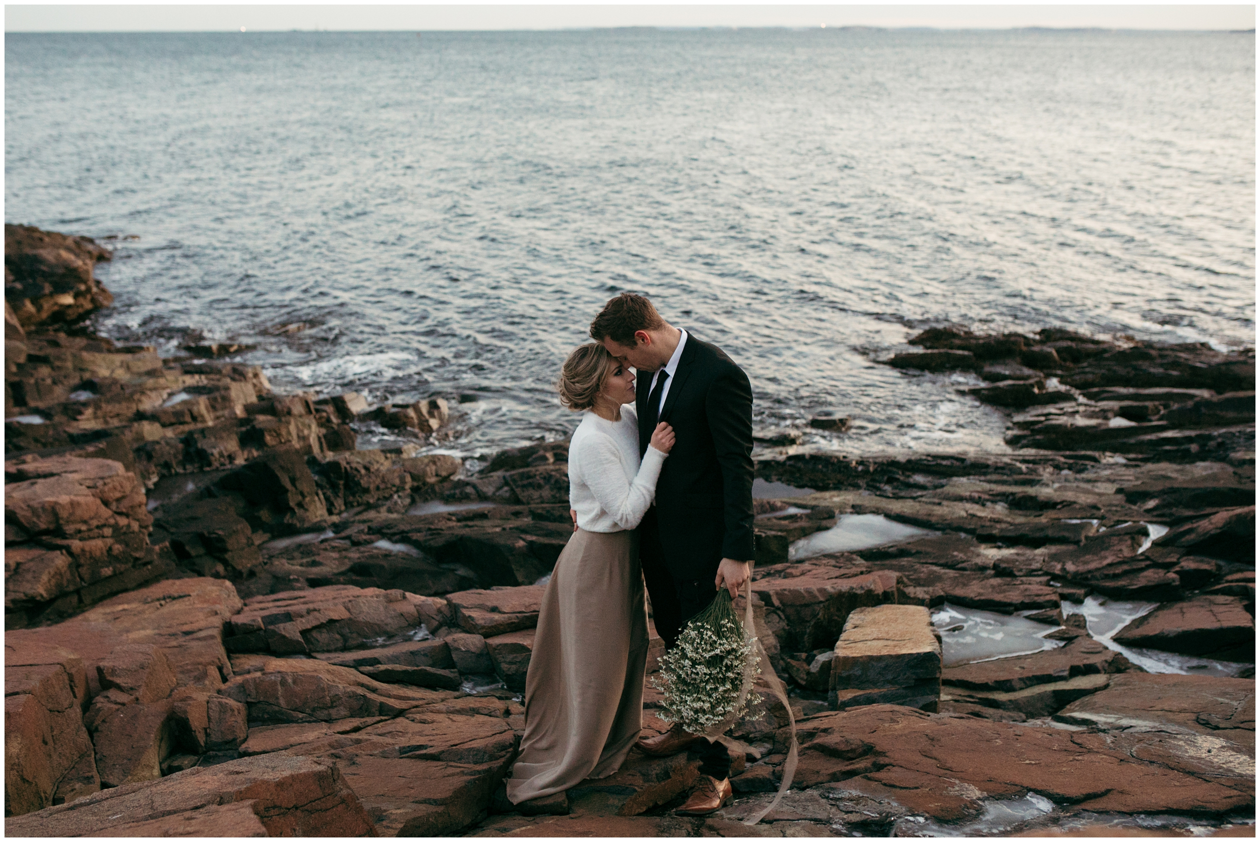 Boho elopement on the water