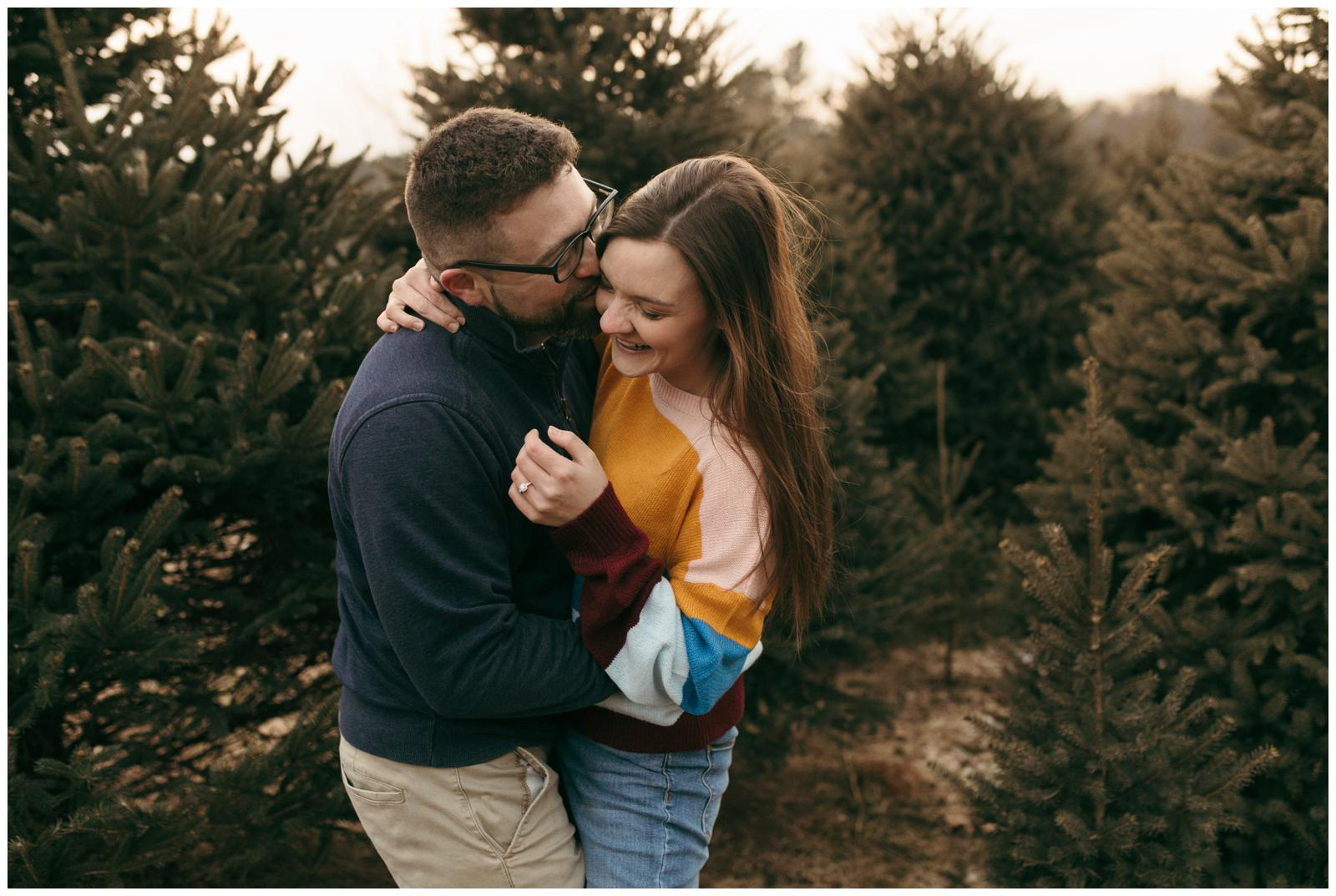 Connecticut engagement session at tree farm
