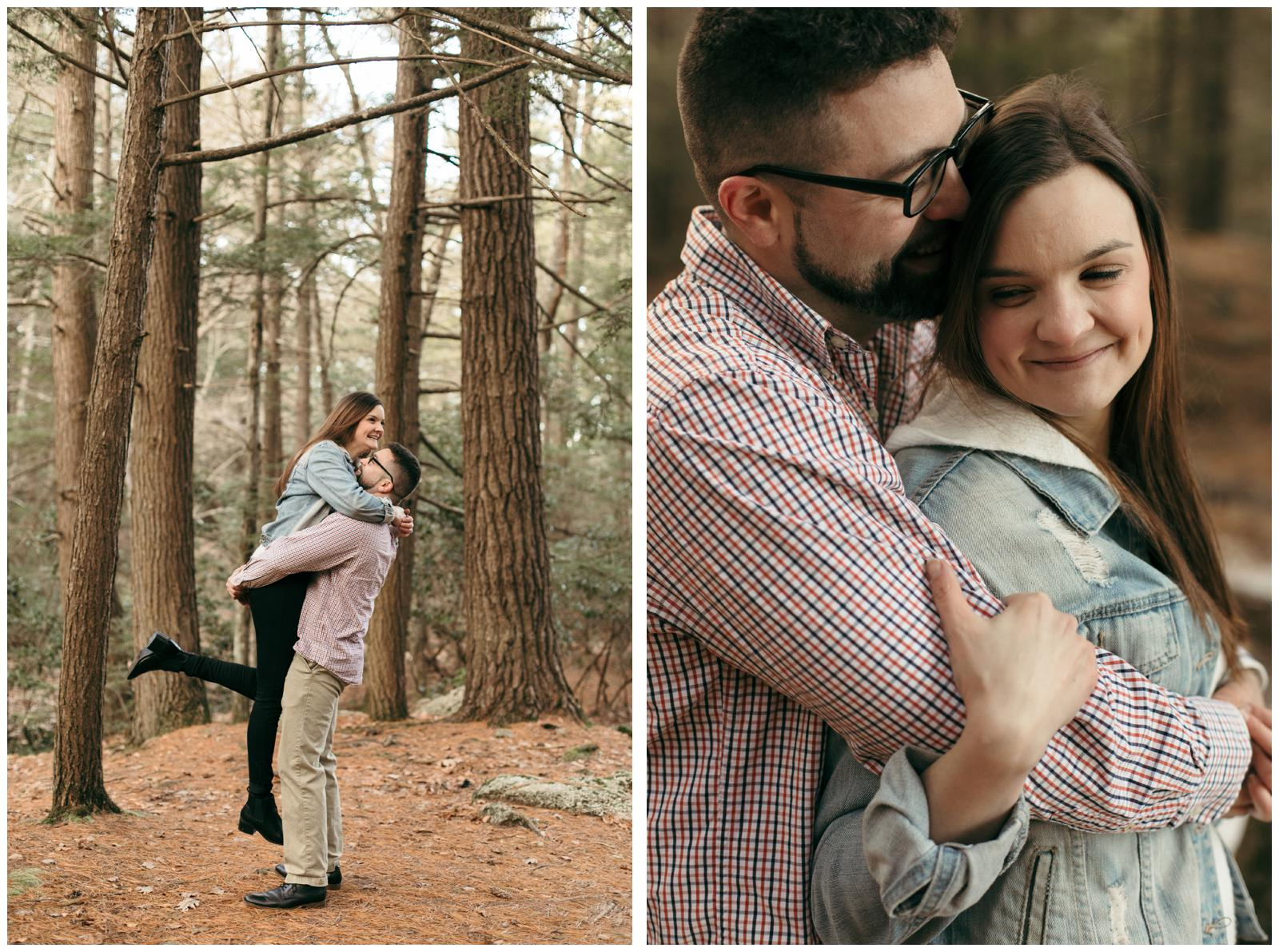 Couples session at state park in CT