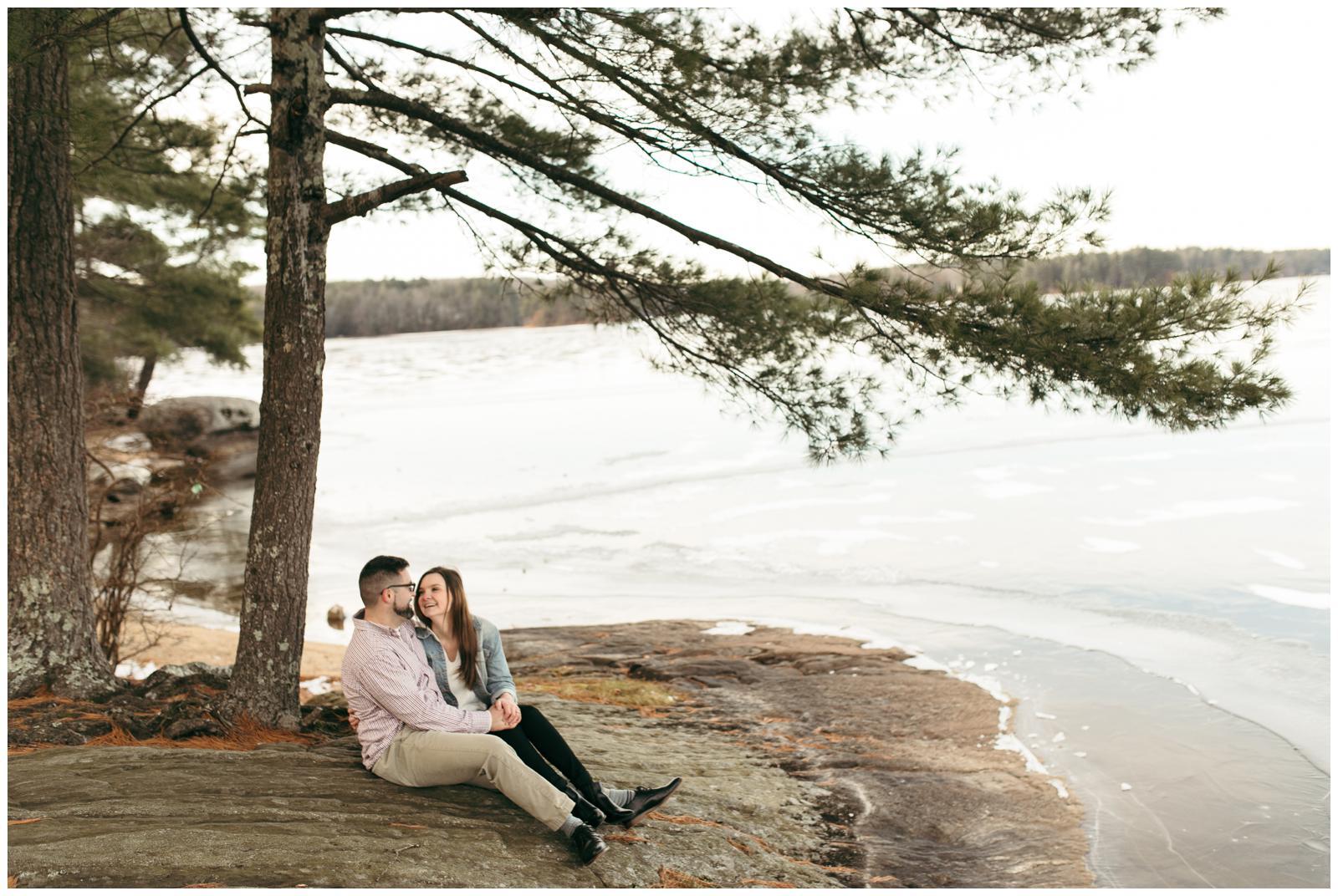 Connecticut lake engagement