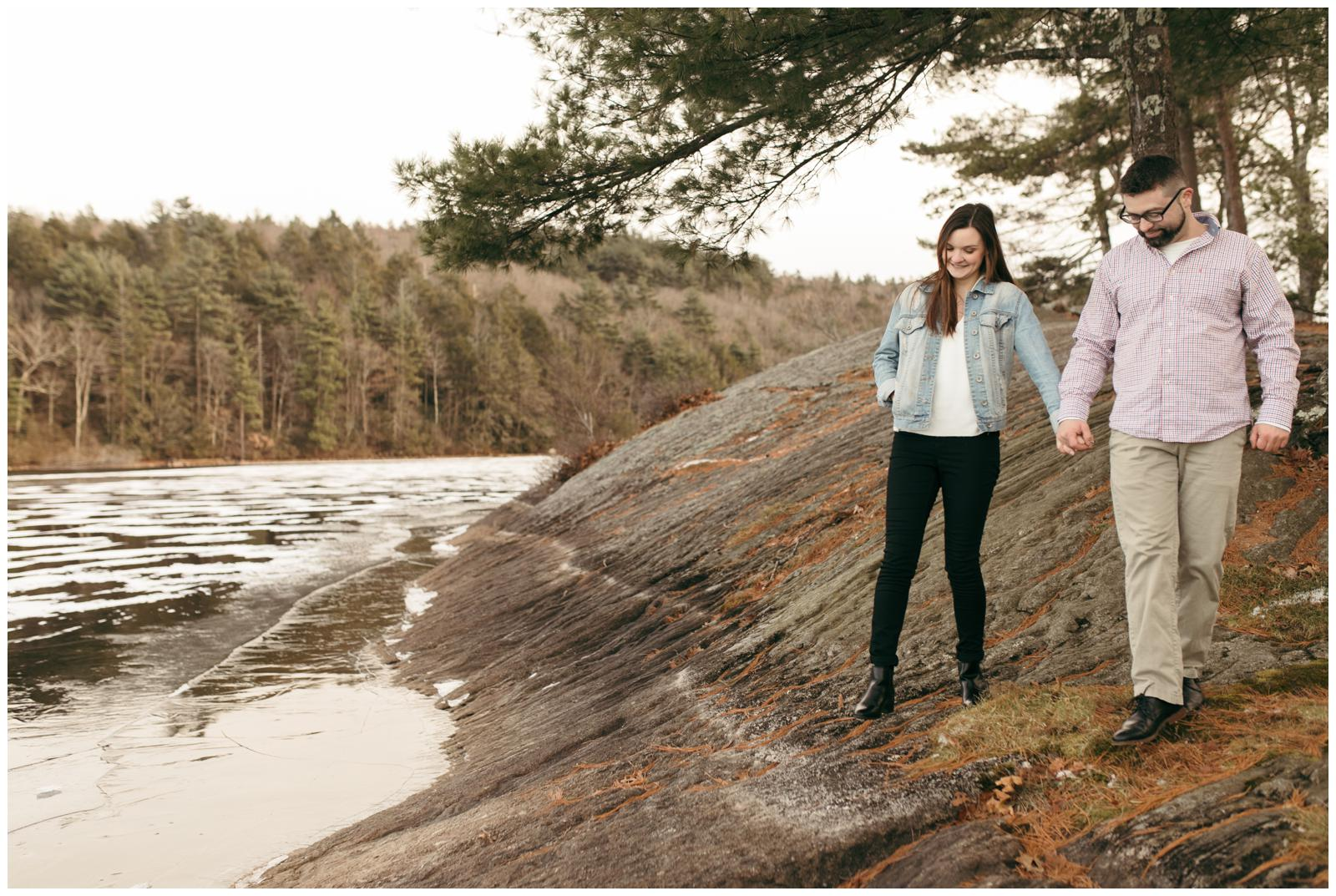New England engagement session