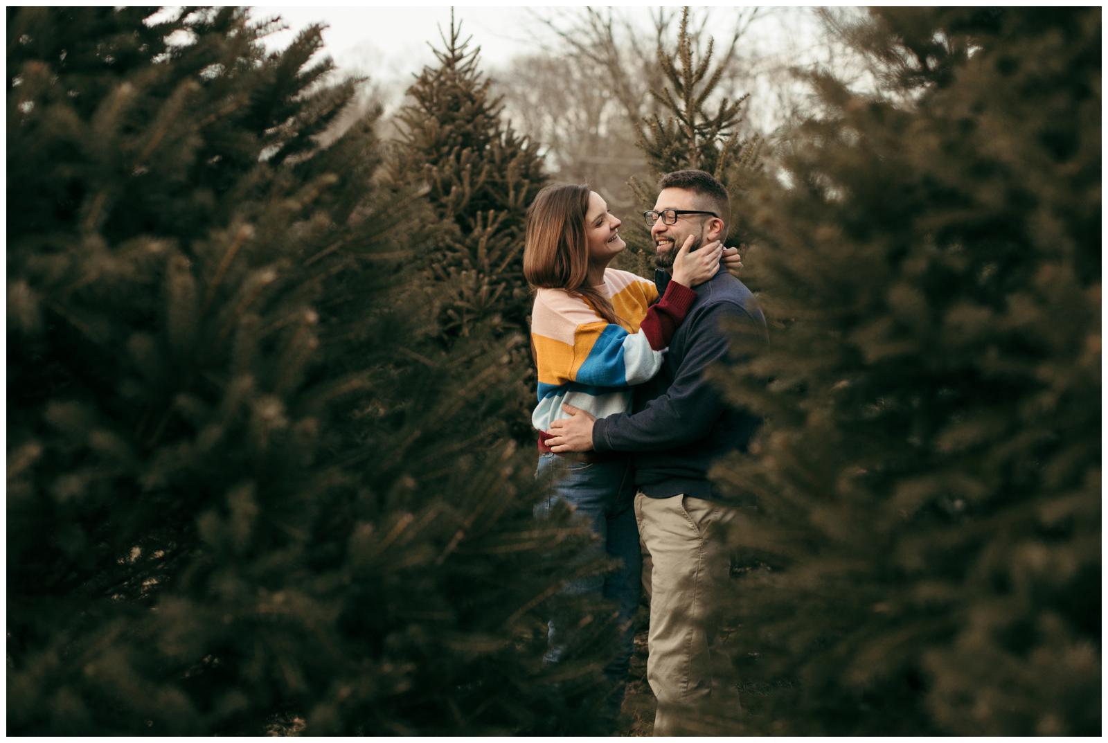 Tree farm couples session