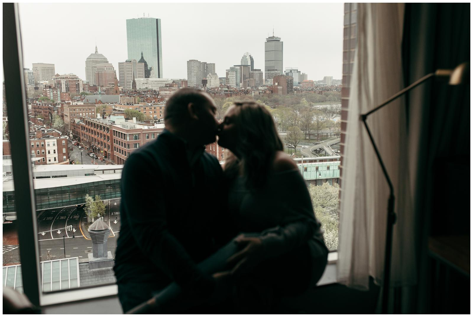 Liberty Hotel engagement session indoor engagement photos Boston
