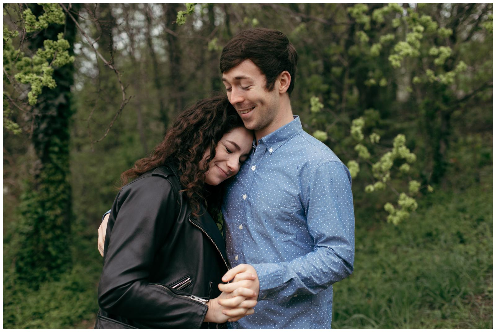 springtime engagement session Brooklyn