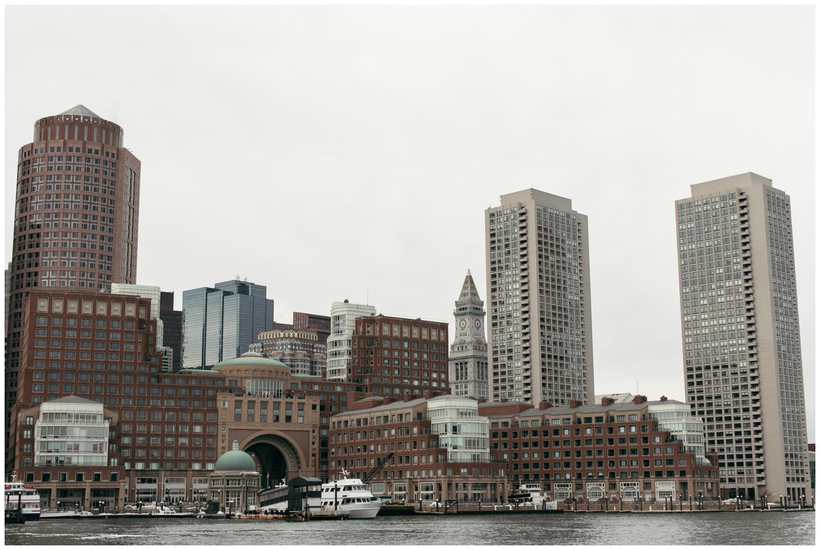 Boston Seaport skyline