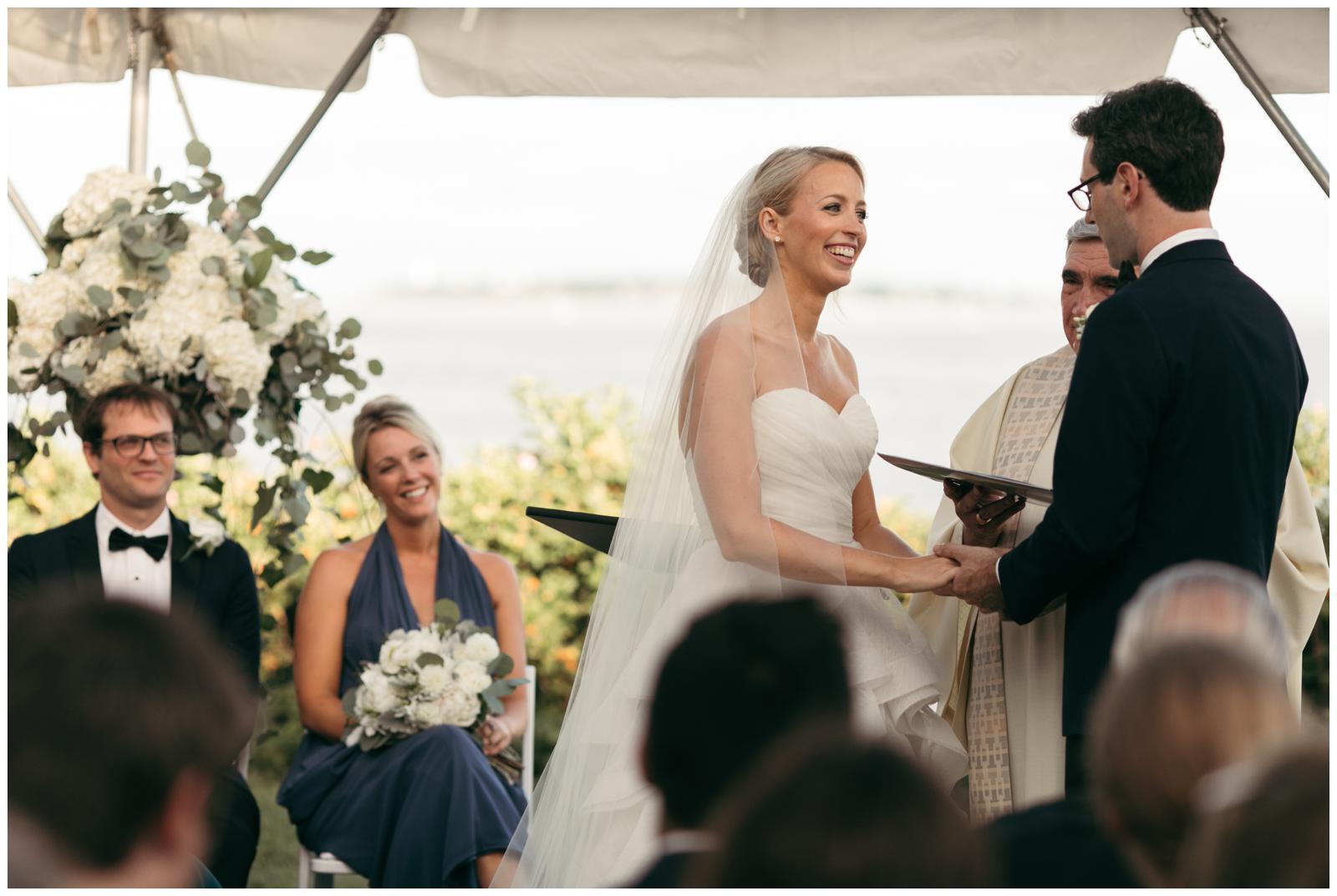 wedding ceremony in tent