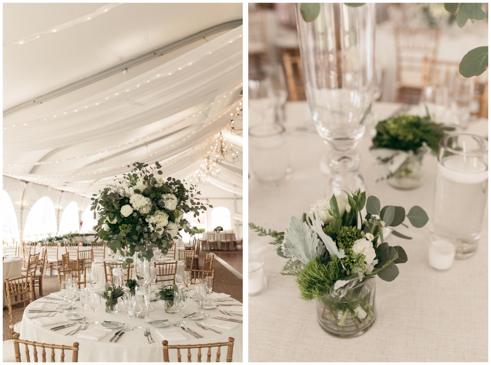 tented wedding reception MA