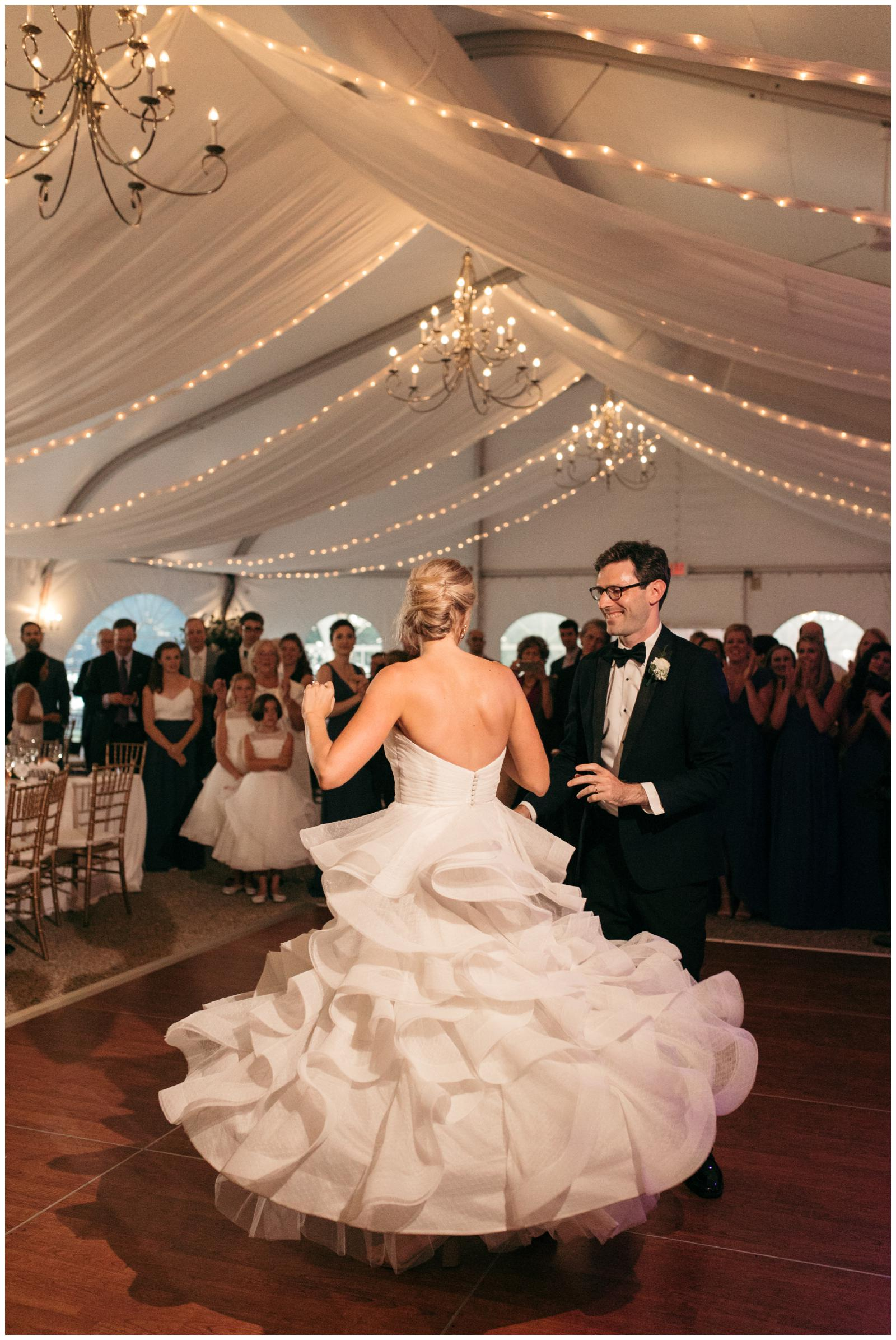 Massachusetts tent wedding reception