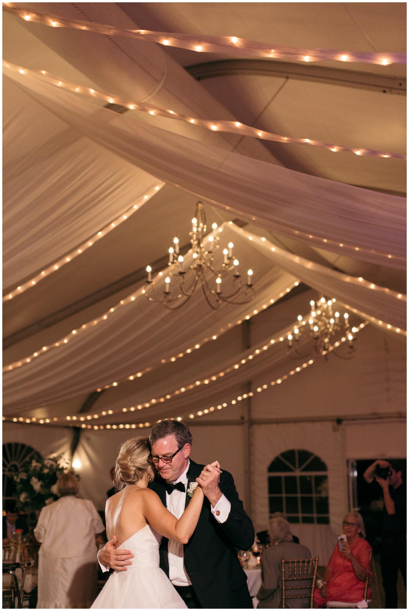 New England tented wedding