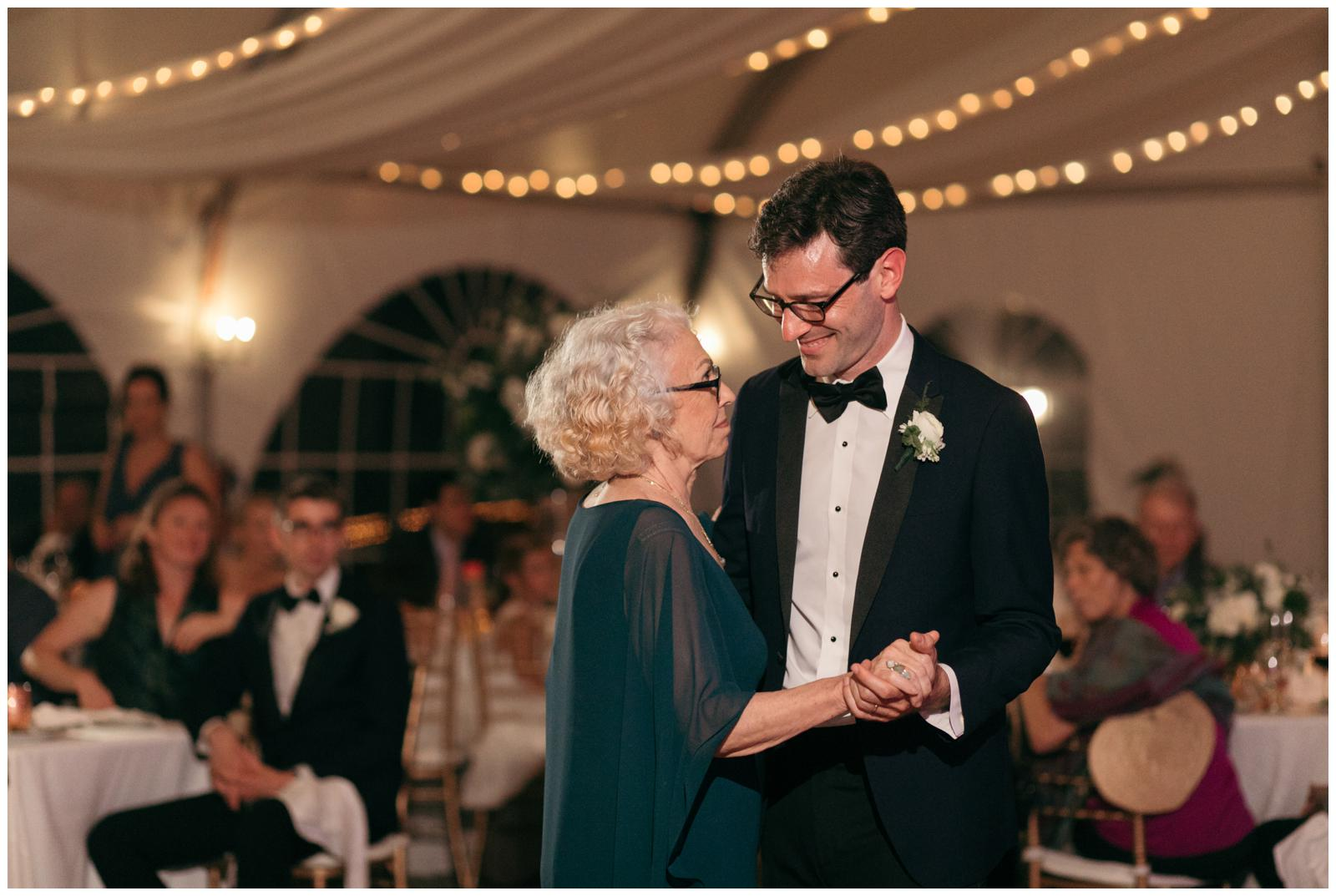 wedding reception in tent Massachusetts
