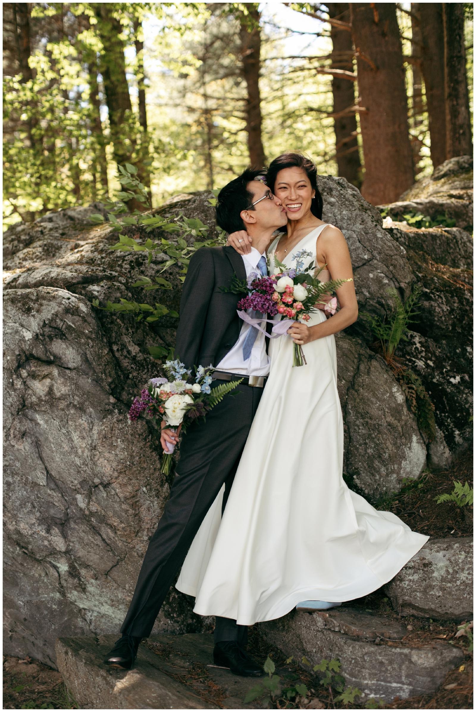 woodsy wedding Massachusetts