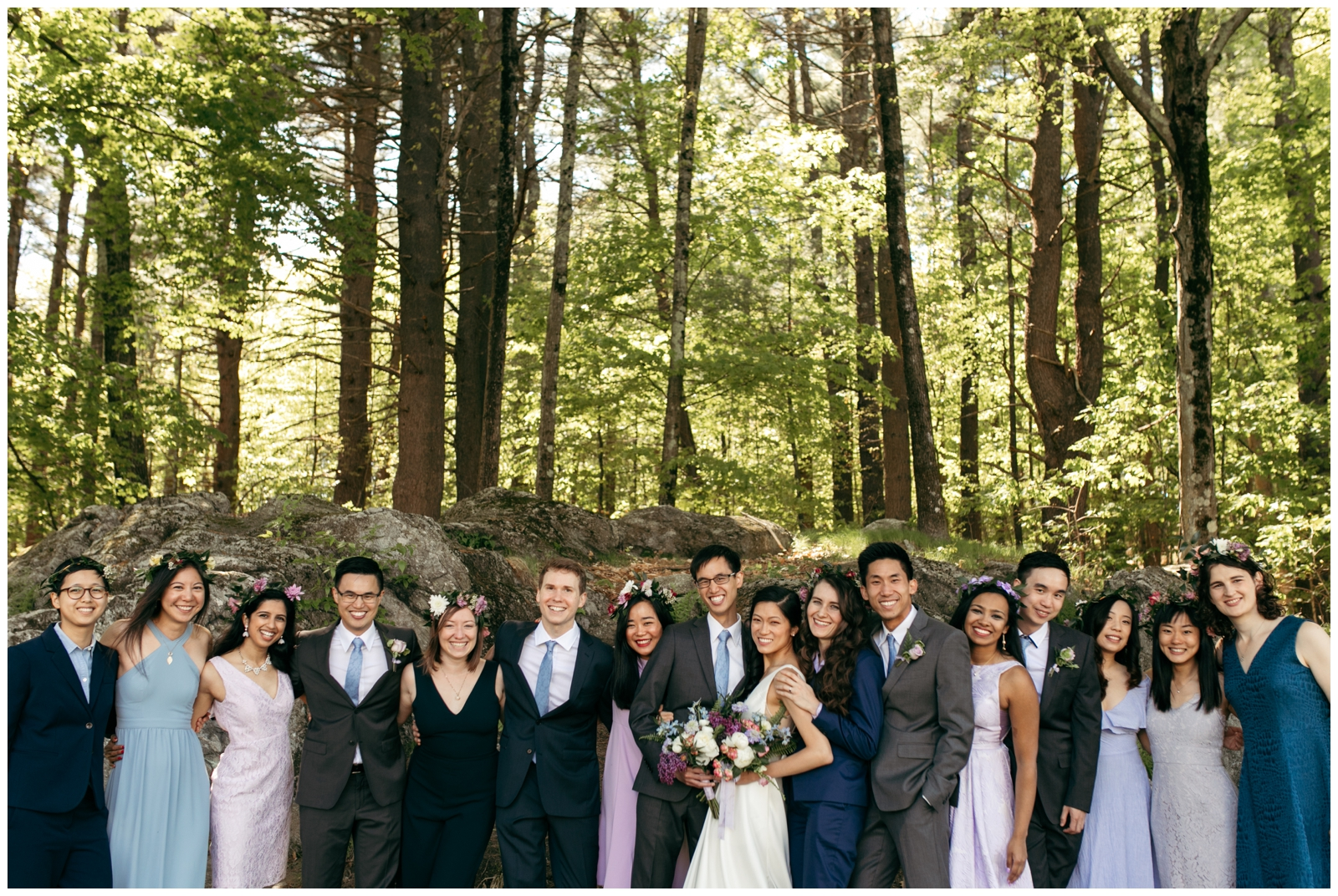 woodsy wedding near Boston