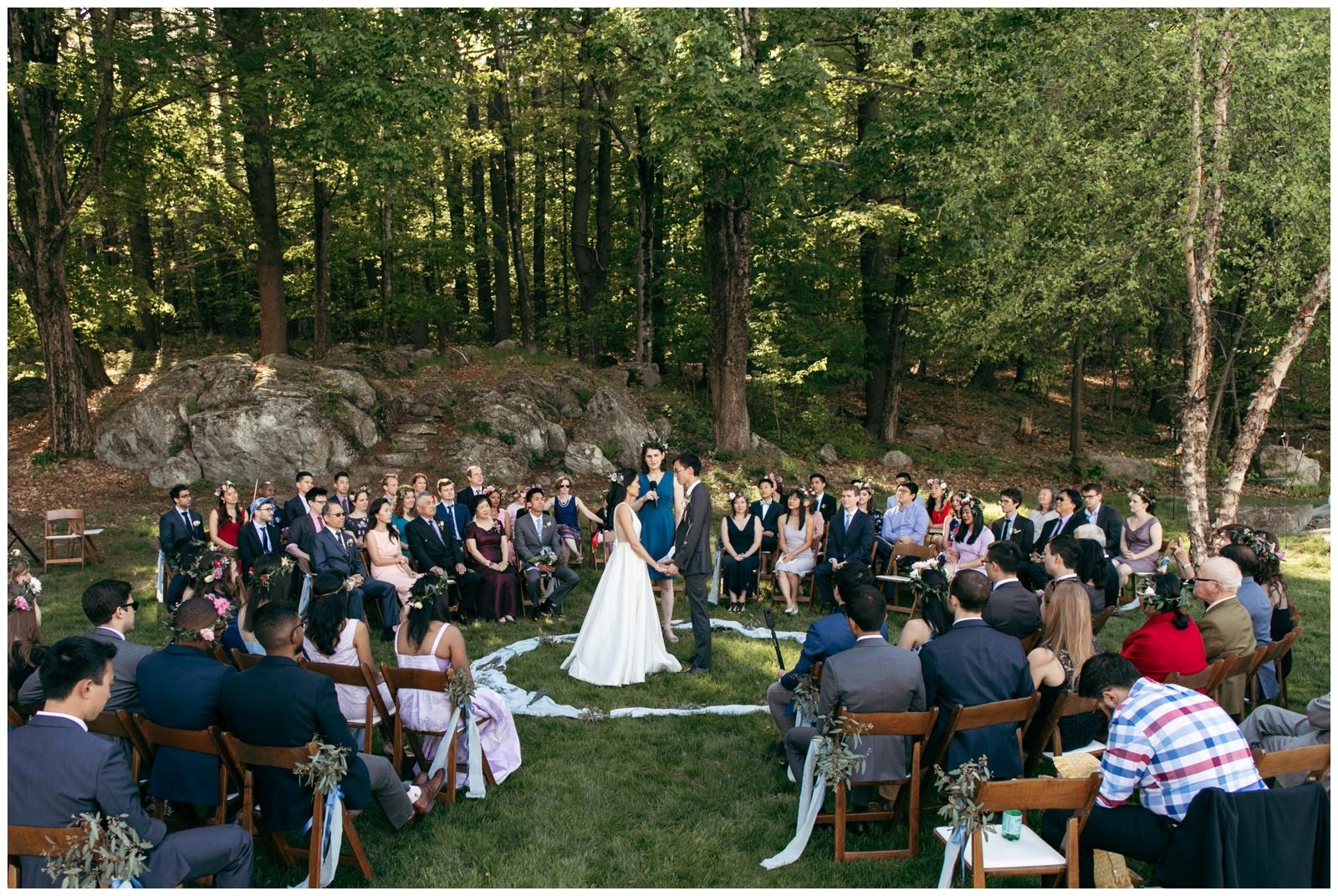 Friendly crossways wedding