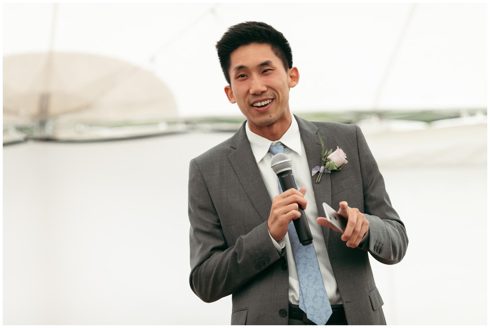 wedding reception with tent Boston