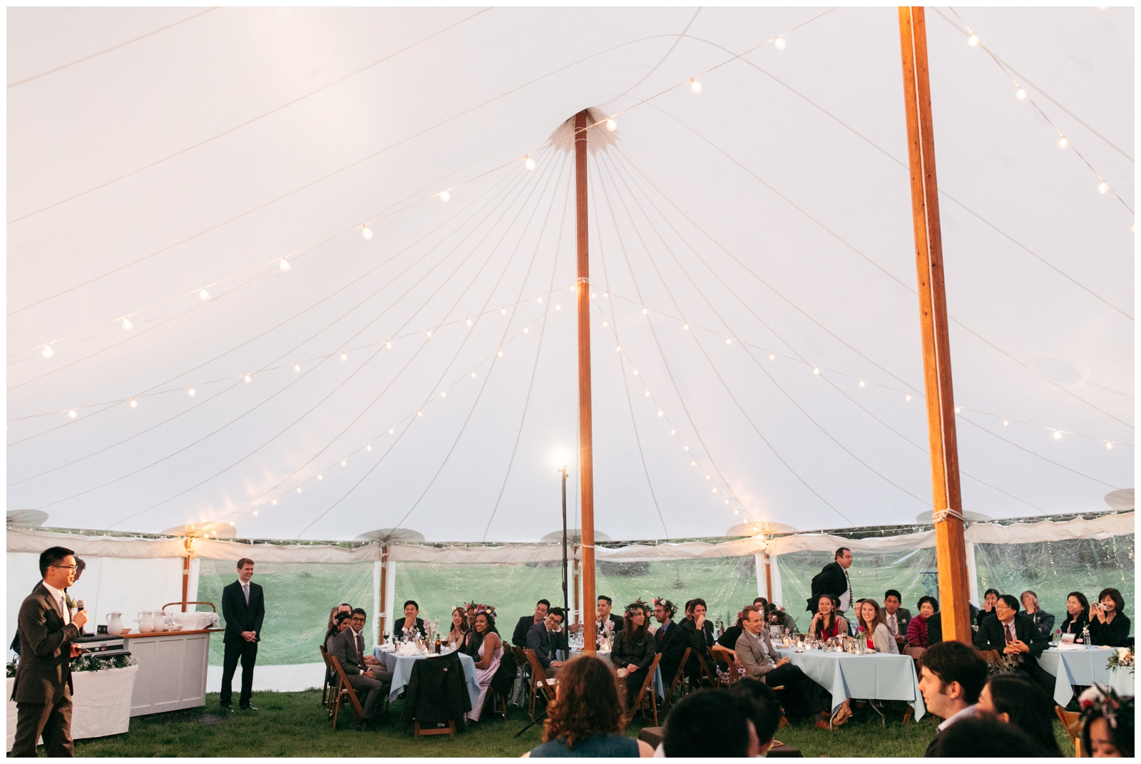 Massachusetts wedding venue with tent