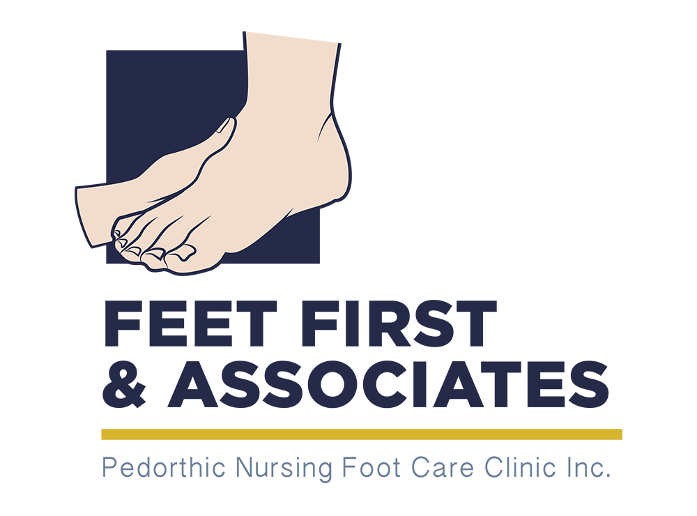 "Rhonda of ""Feet First"" was looking for a simple update to her existing logo.     She wanted something a little more modern, but needed to keep the foot graphic similar, as she had existing brand recognition."