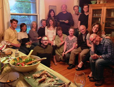2013-2014 Advanced GT trainees and friends at annual potluck