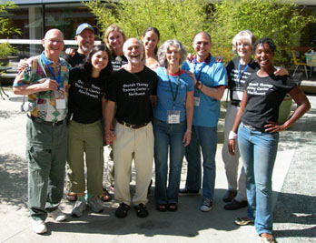 Eva and Steve with trainees, students, and friends at AAGT Conference, Vancouver, BC, 2006