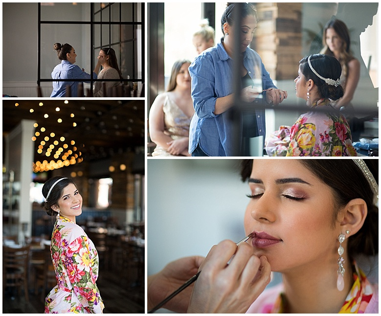 Monica of Monica the Makeup girl did an incredible job of enhancing the ladies' beauty with her makeup design.