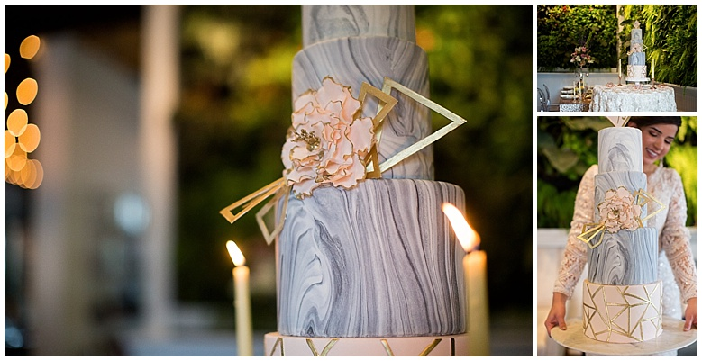 Marble Wedding Cake Palm Beach Wedding