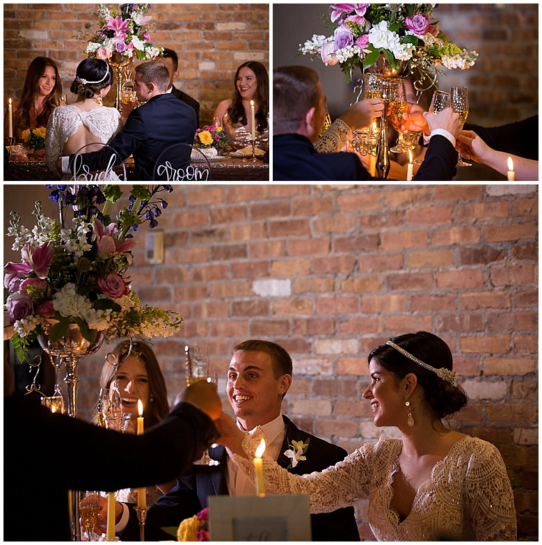 Our Bridal Party enjoying some champagne around the beautiful table.