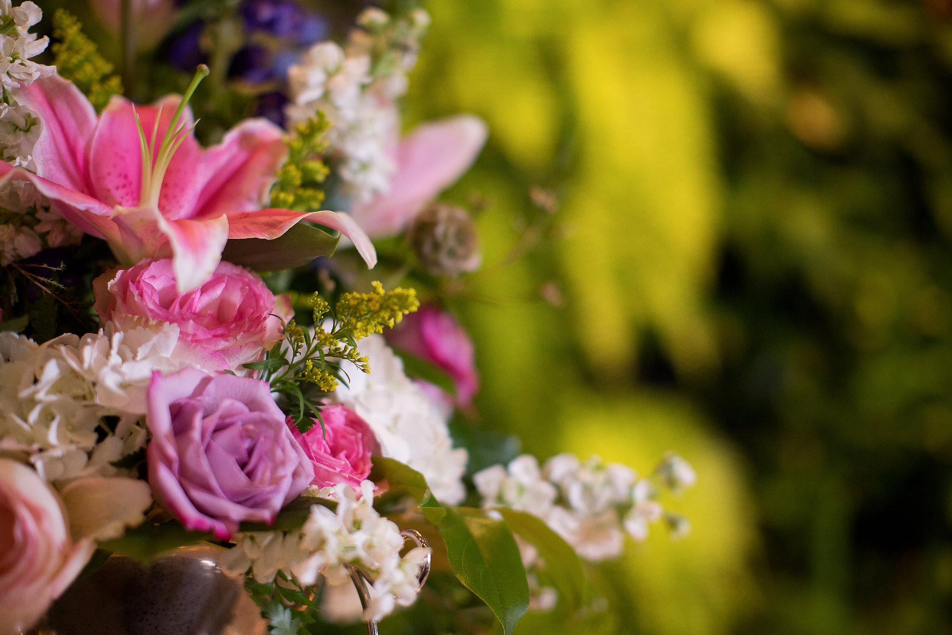 Bright Wedding Flowers Living Wall Palm Beach Wedding