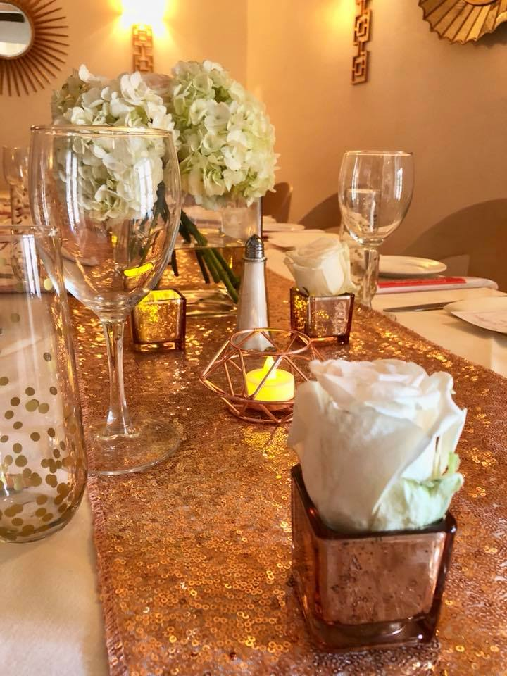 Modern Rose Gold Marble Birthday Party Rose Gold Decor Details