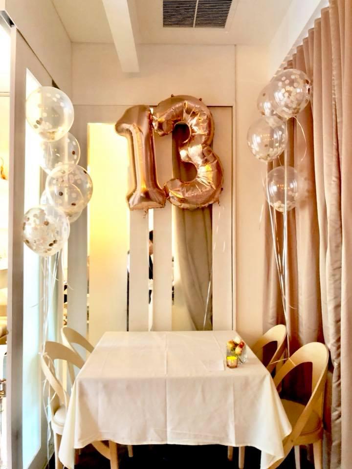 Modern Rose Gold Marble Birthday Party Rose Gold Metallic Balloons 13