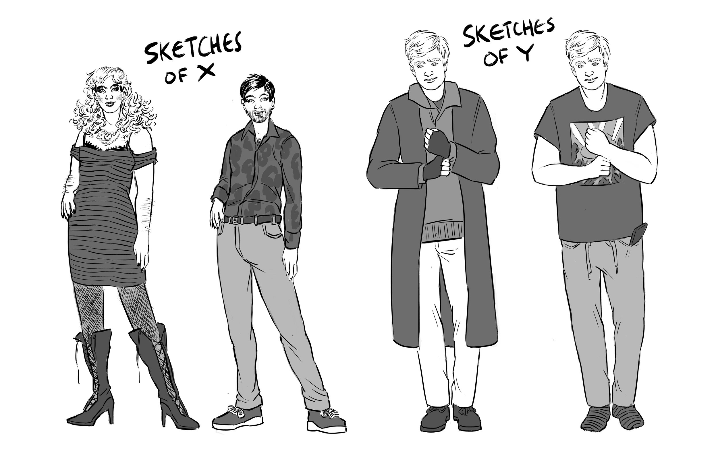 Home Sweet Home Anthology Pitch Character Sketches