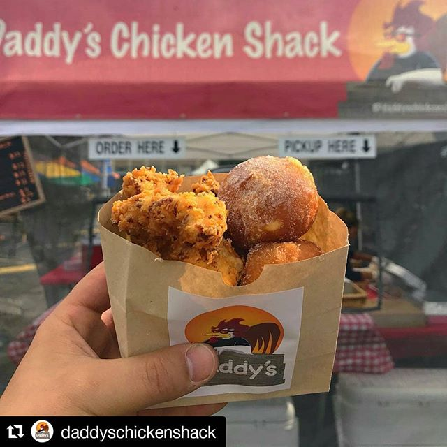 #Repost  #streetstopapp  #thestreetstop  #foodtrucklife  #lafoodtrucks  #LAeats  #streetfood  #orderahead  #skiptheline  #freeapp  #linkinbio . #Repost @daddyschickenshack (@get_repost) ・・・ Happy Easter ya'll! Spring has sprung and it feels so good. That time of year for new beginnings. And speaking of new beginnings if you haven't tried our popcorn chicken with Italian style cream filled donut holes, today is the day. We are at @smorgasburgla until 4pm today with these beauties and open until 6 in Old Town Pasadena (donuts only available at Smorgasburg). See you soon!