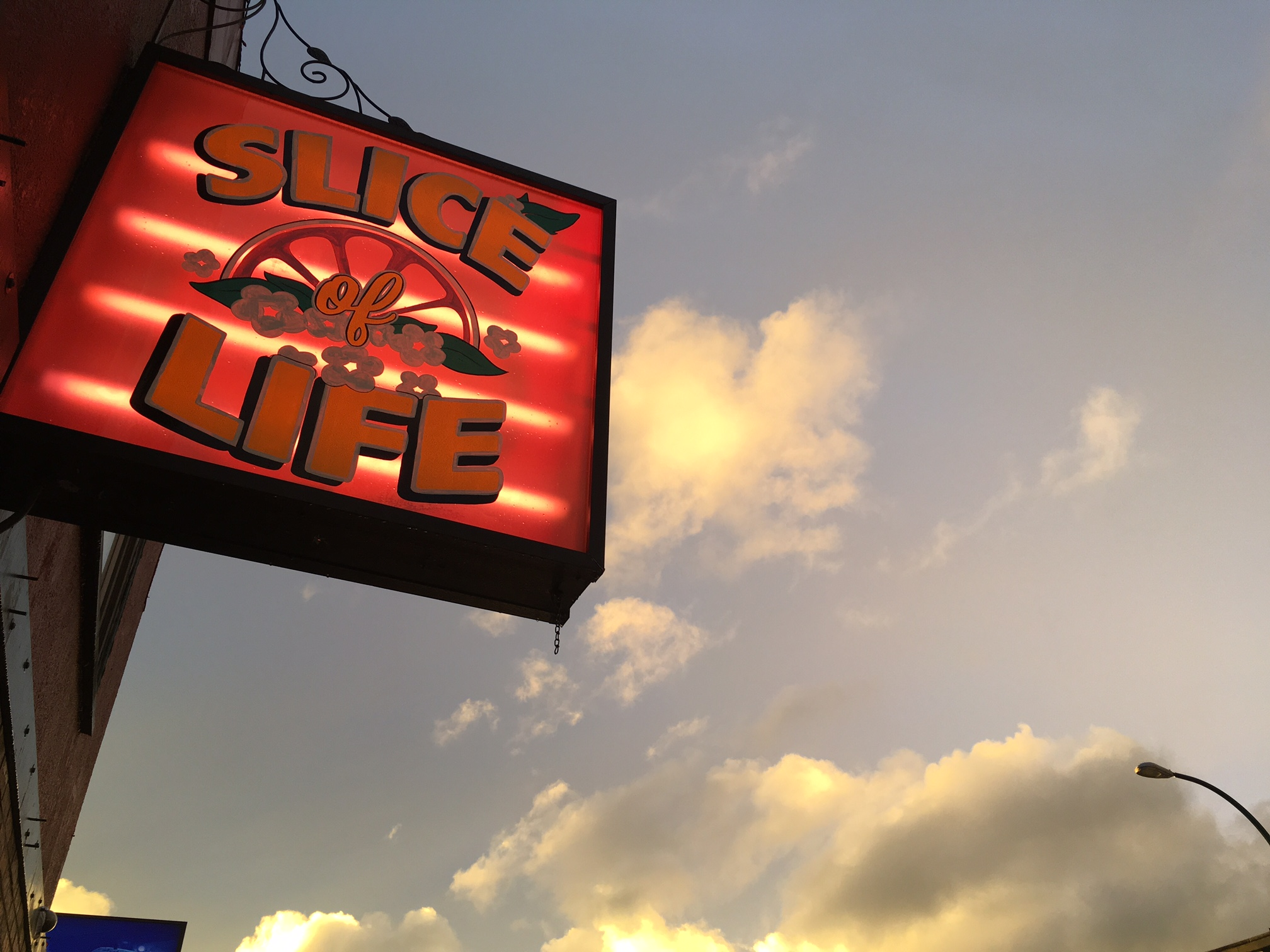 Slice of Life business sign - not for sale
