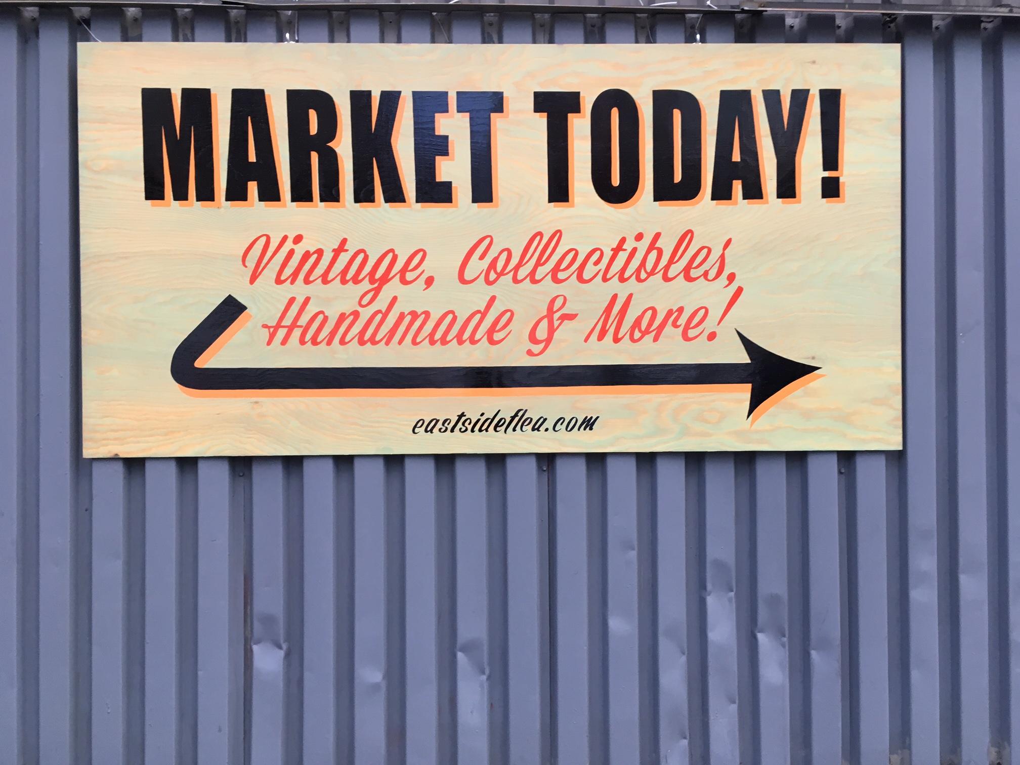 Eastside flea market sign - NOT FOR SALE