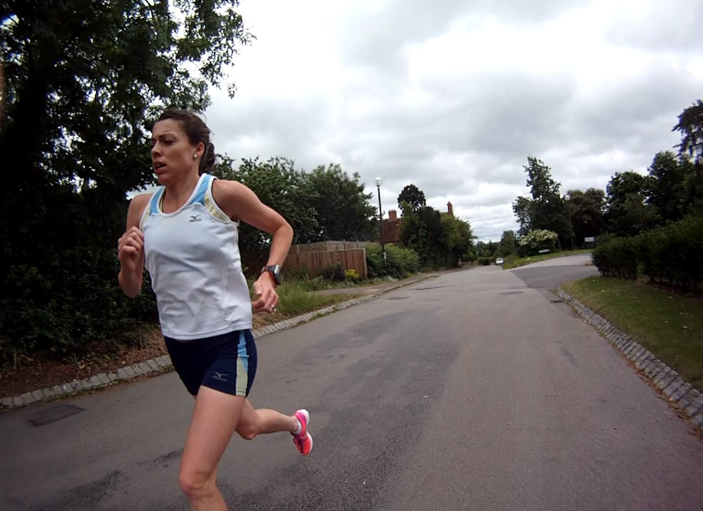 Emily training in Milton Keynes, England.