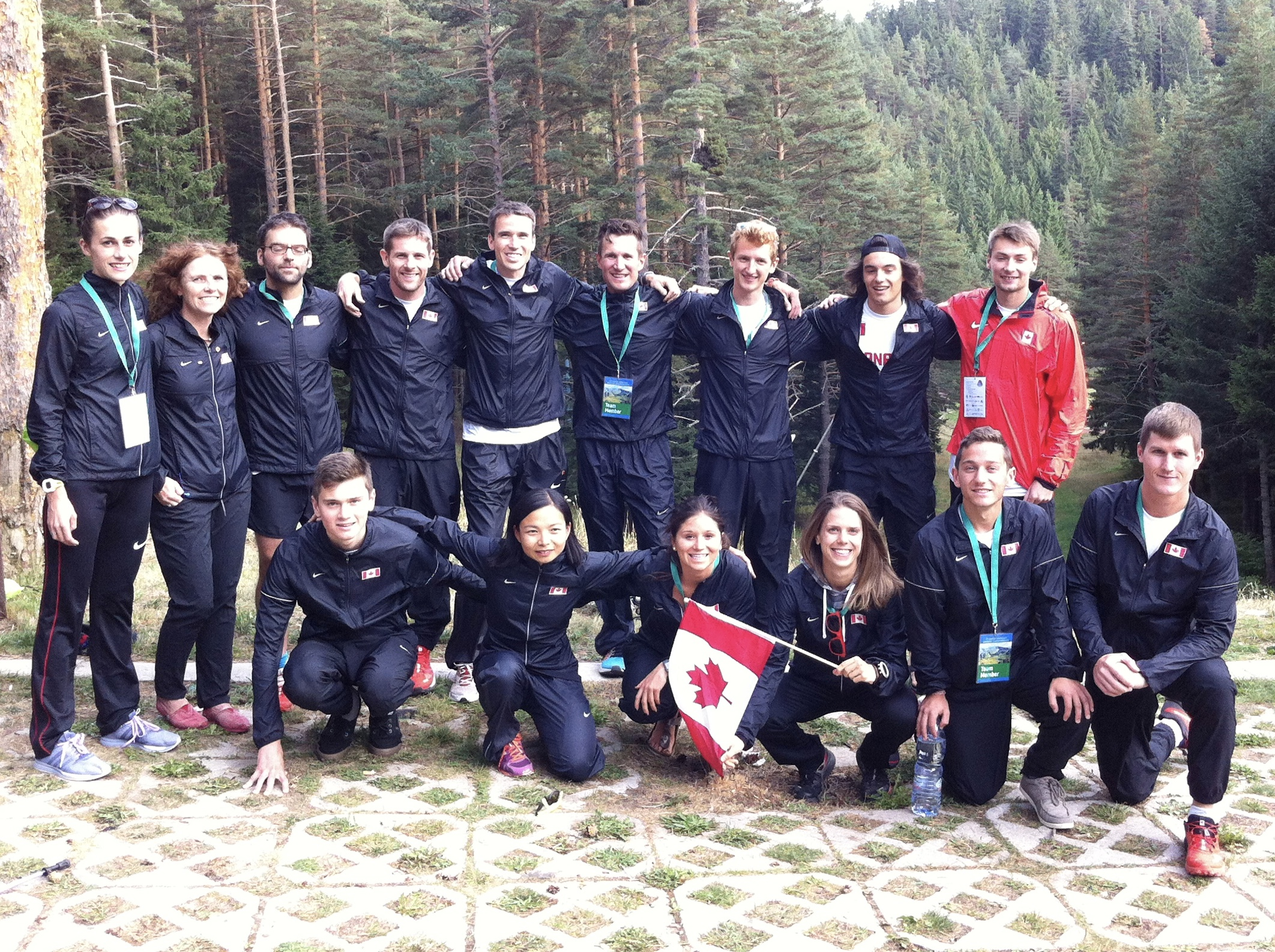Canadian Mountain Running Team 2016 (Back Row L to R: Adele Blaise, Sue Lambert (Team Manager), Benoit Gignac, Mike McMillan, Kris Swanson, Mark Vollmer, Shaun Stephens-Whale, Emmanuel Mercier, Greg Hetterley. Front Row L to R: Aidan Doherty, Mirabelle Tinio, Marianne Hogan, Ashley Ramsay, Mitchell Cauchi, Matt Setlack)