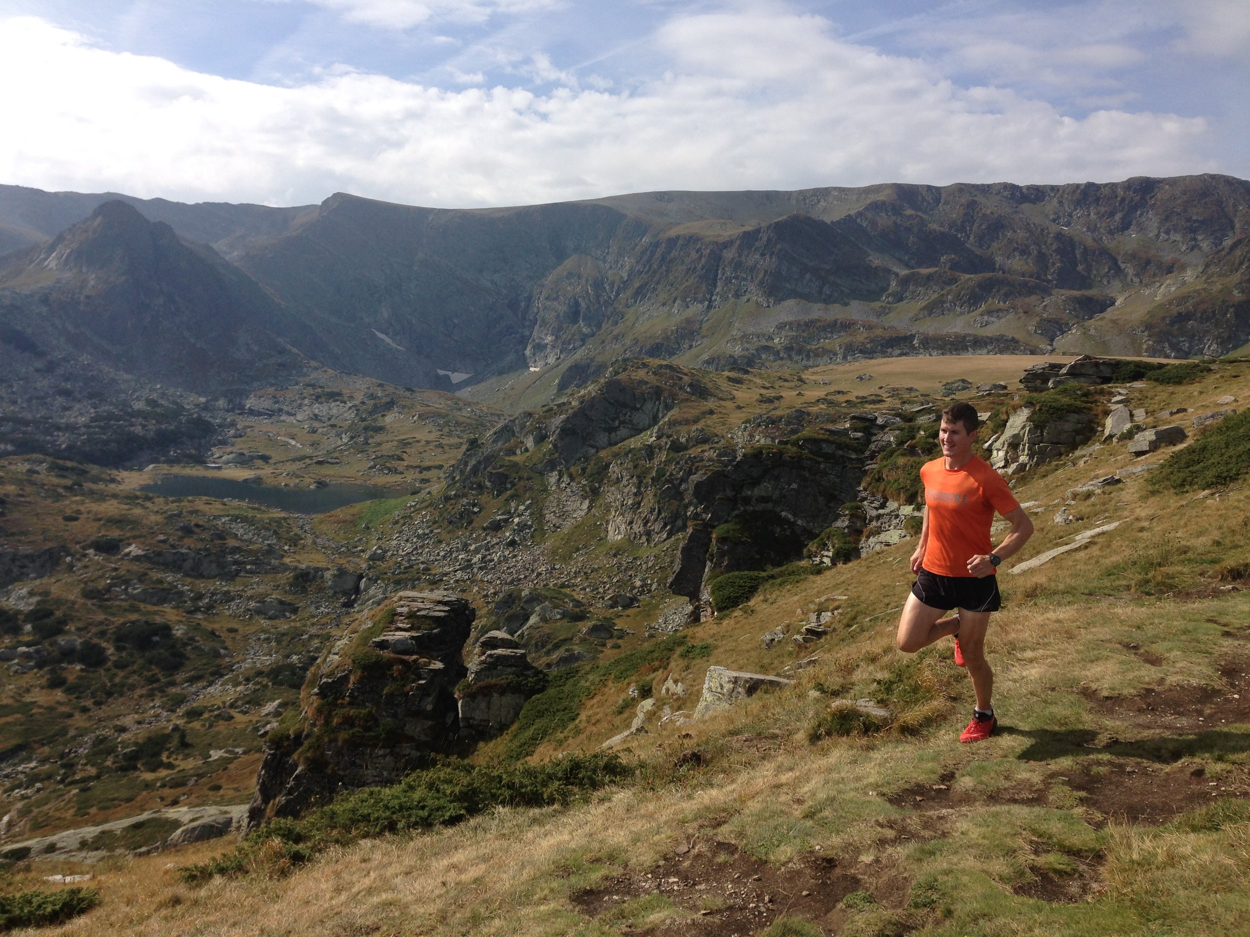 Running in the Rila Mountains (PC: Dougal from NZ)