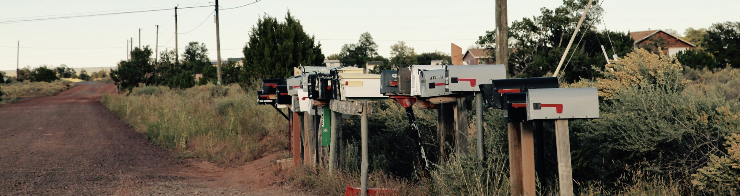 Mailboxes on the way to the Grand Canyon