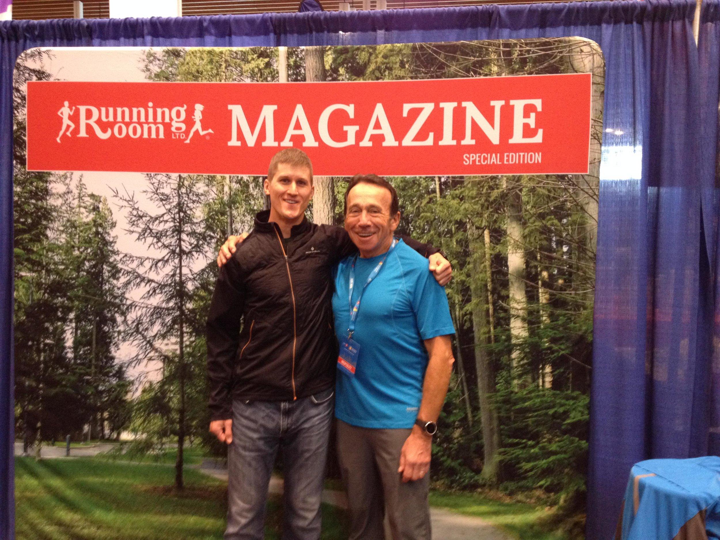 Matt Setlack and John Stanton at BMO Vancouver Marathon Expo