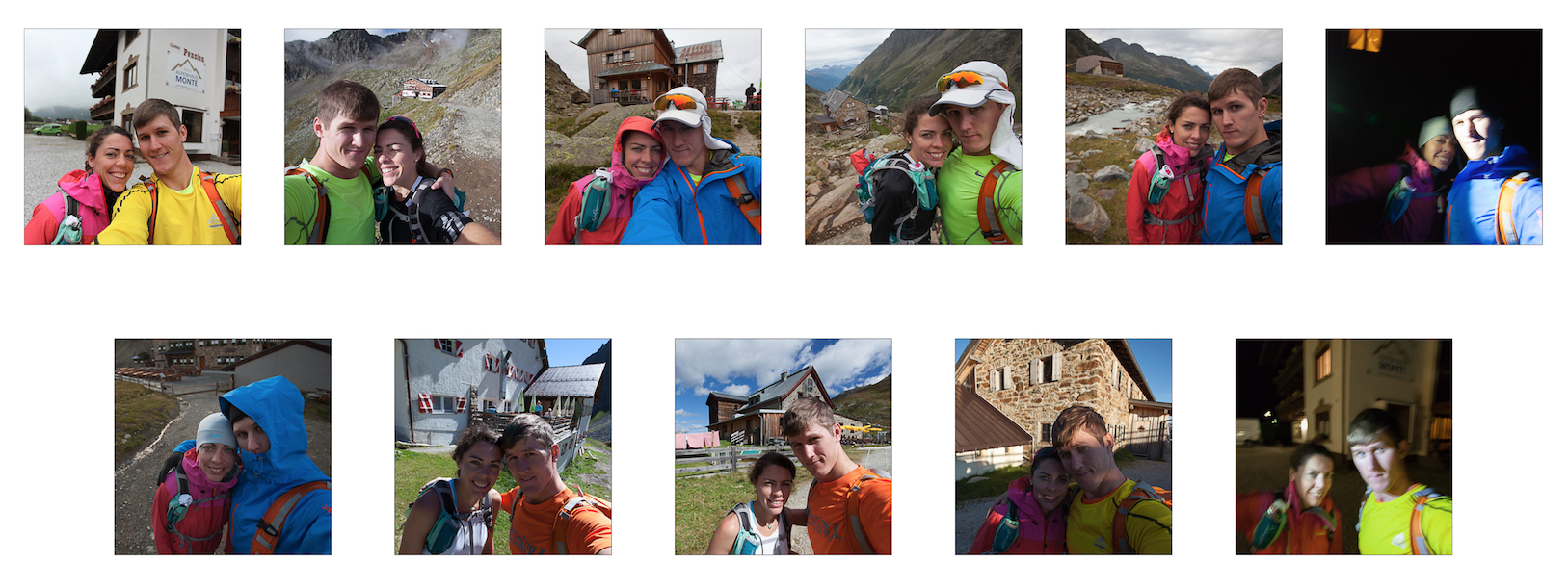 We took a photo at each mountain hut that we passed along the way. Stubaier Hohenweg | 02 - 03 Sep 2013 | Tyrol, Austria.