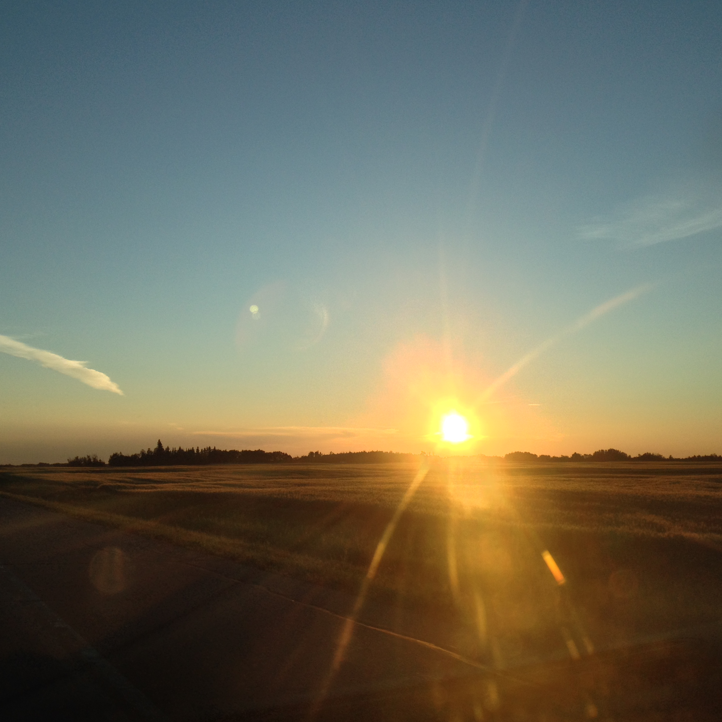 Driving to Edmonton