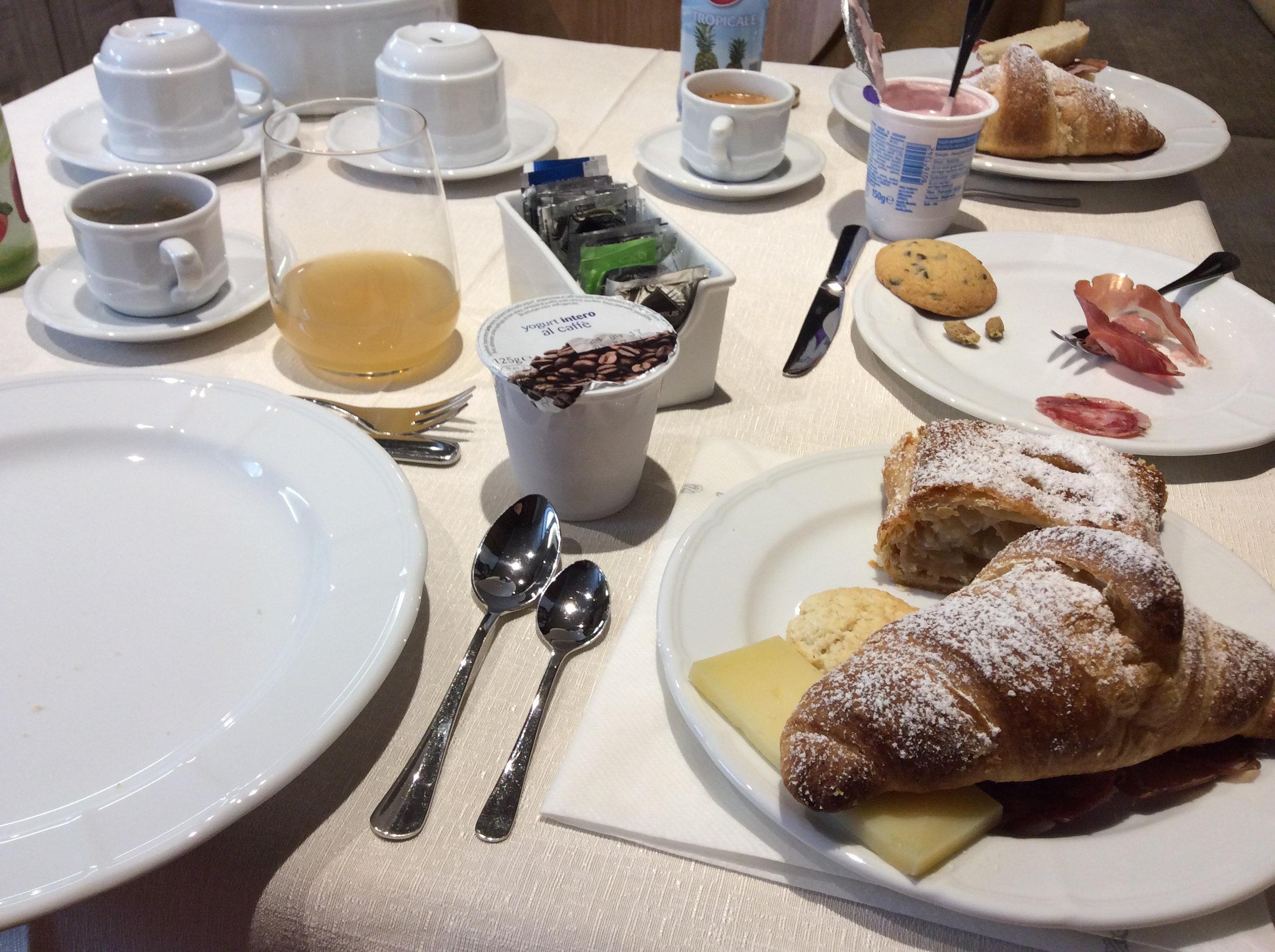 Typical Italian breakfast