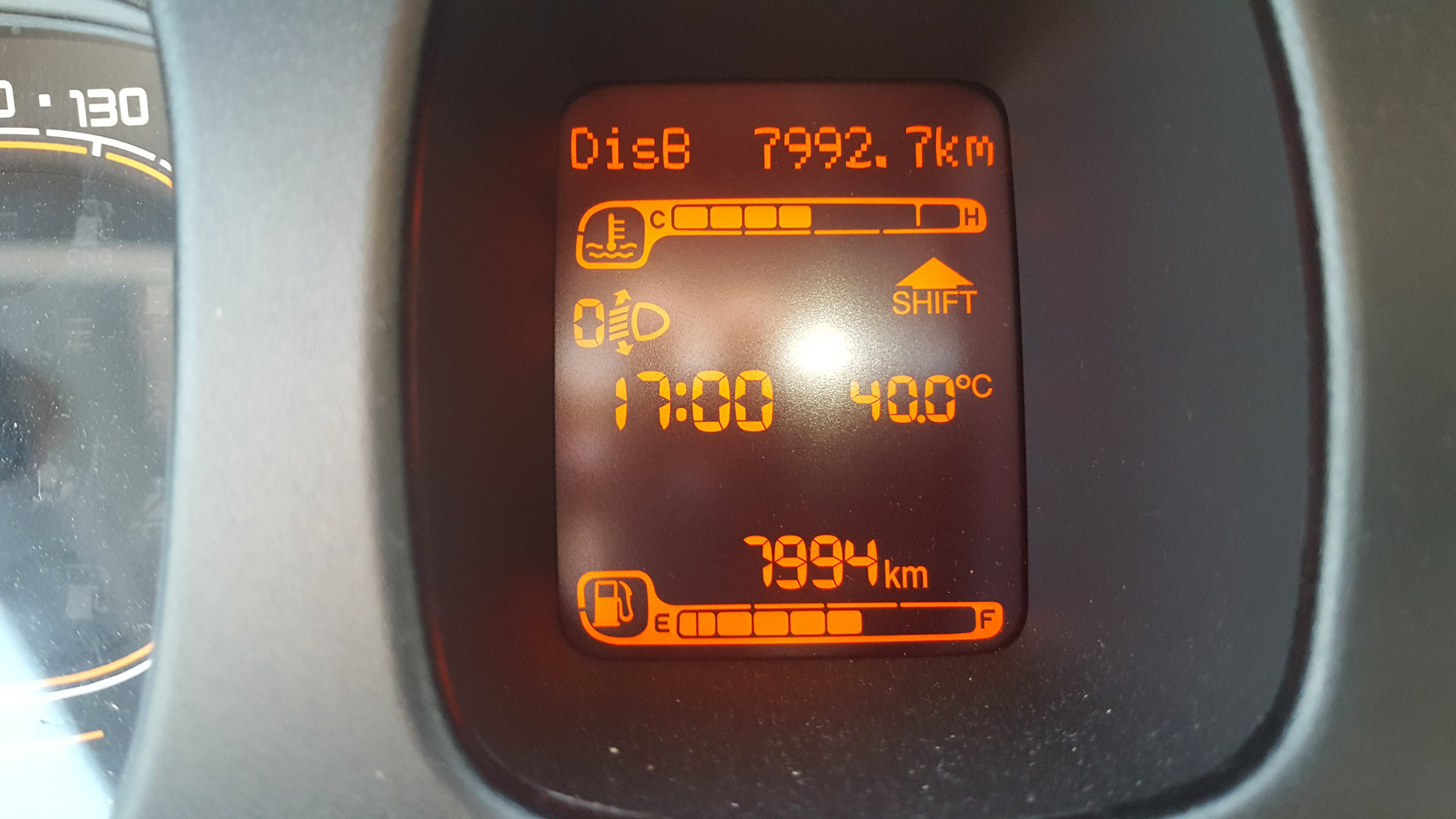 The temperature near Milan was +40.0C