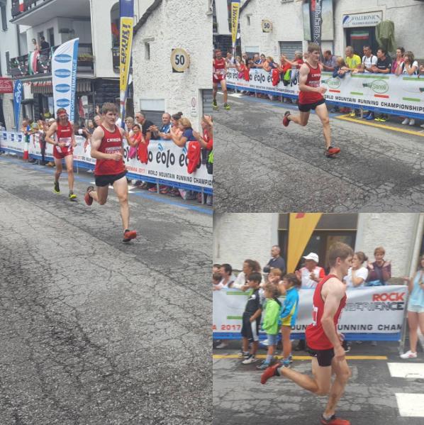 Matt Setlack finishing the long course race (PC: Adrian Lambert)