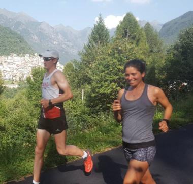 Matt and Marianne running.