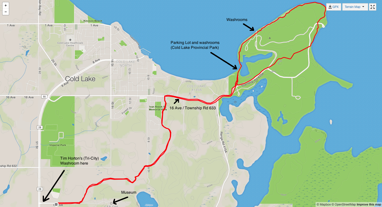 Map for Countryside Trail Run (click map to enlarge)