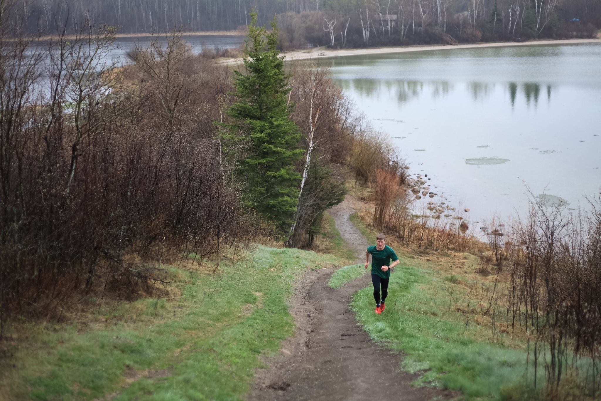 Matt running at the CLPP just north of the parking lot