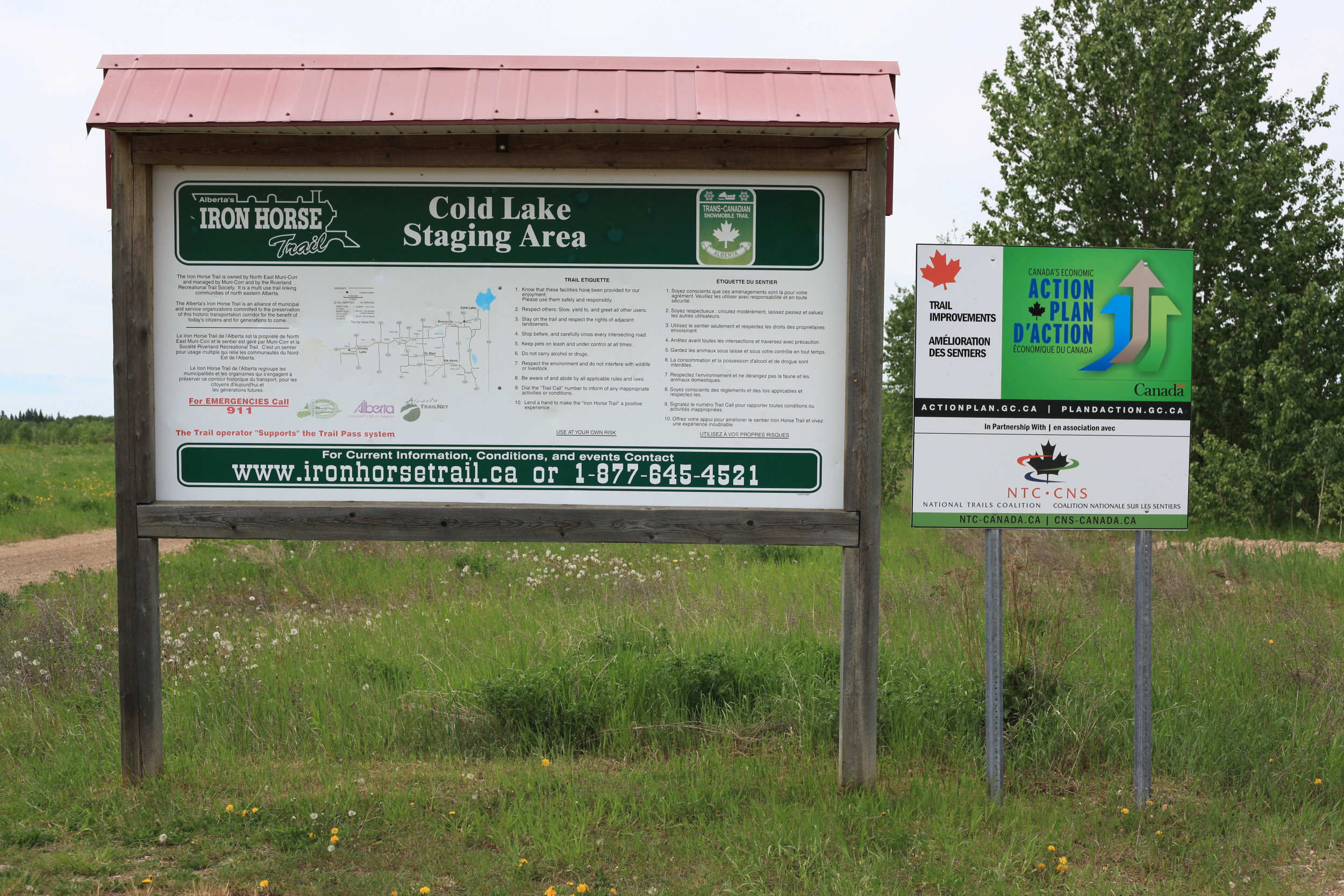Iron Horse Trail trailhead at Cold Lake Staging Area